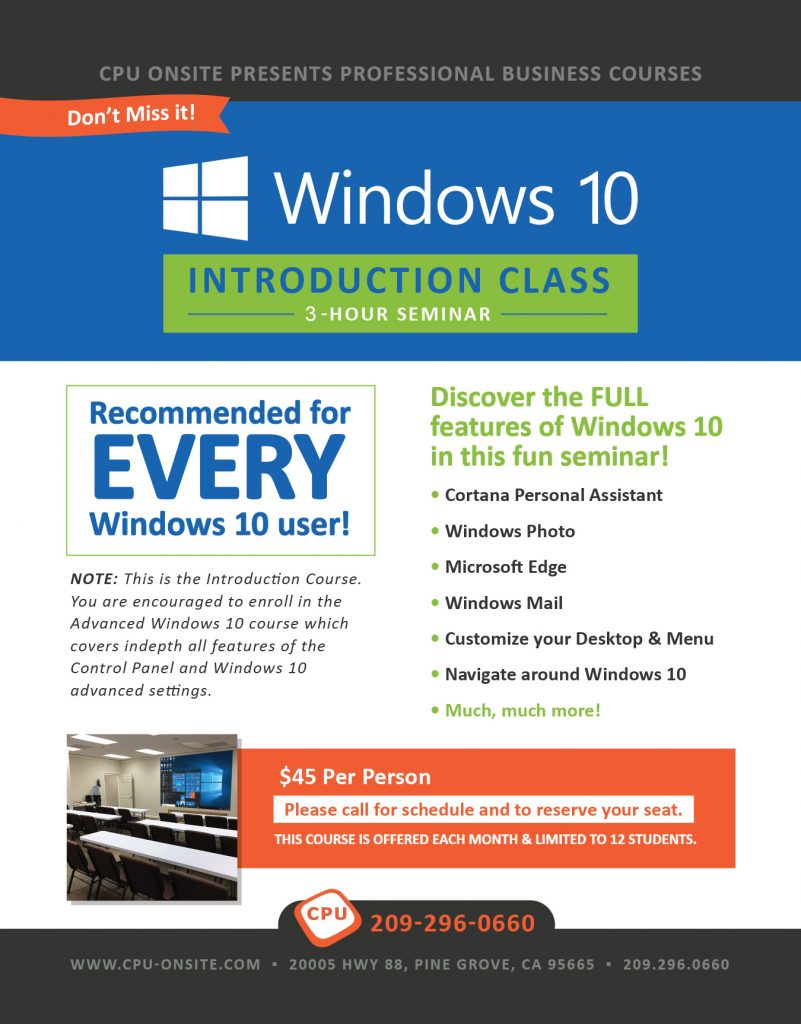 Windows 10 - level 1