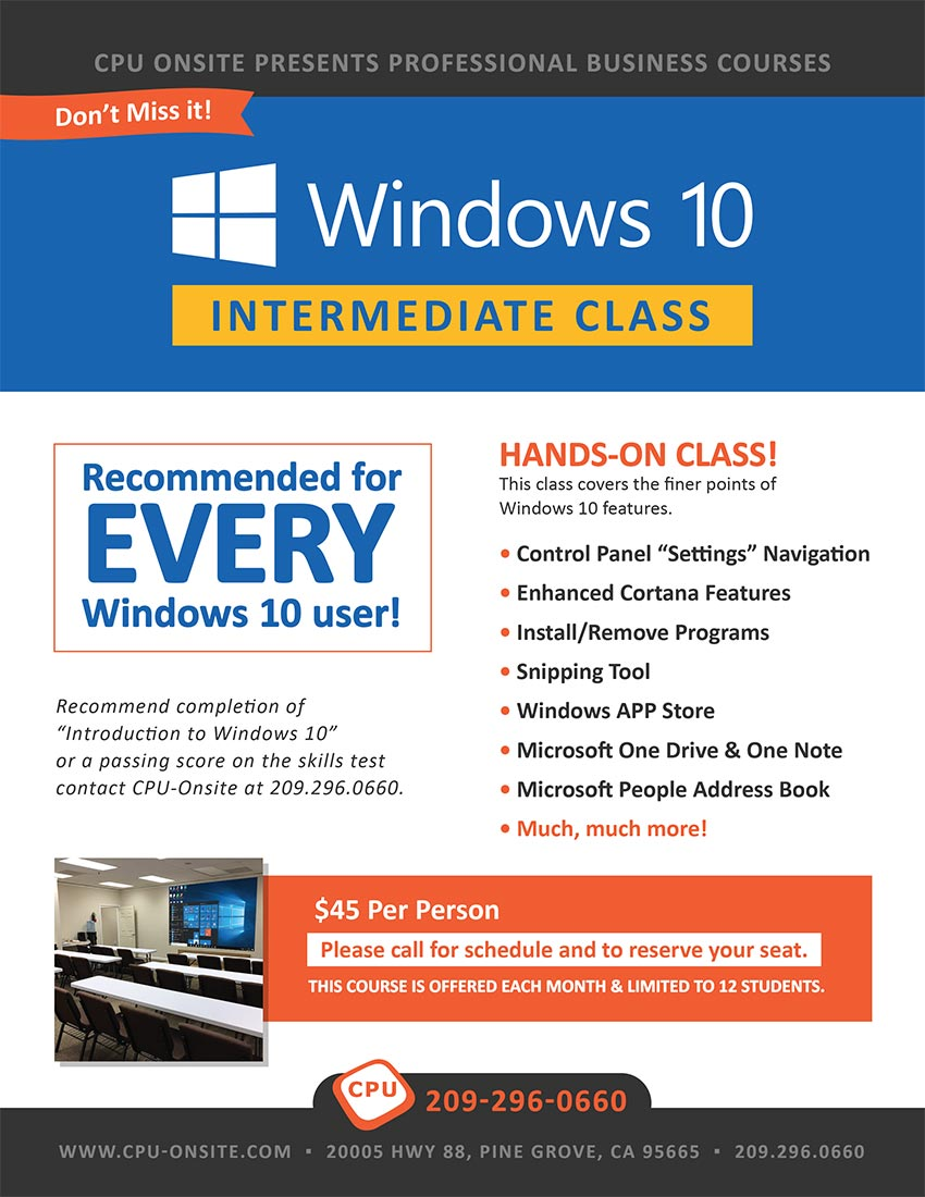 Windows 10 Intermediate Class