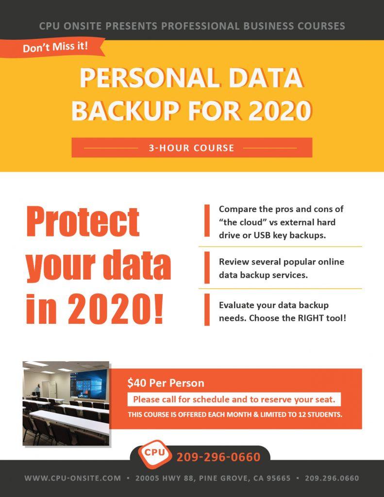 Personal Data Backup 2020