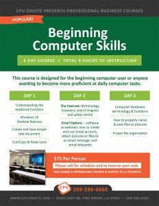 Beginning Computer Skills @ CPU Onsite | Pine Grove | California | United States