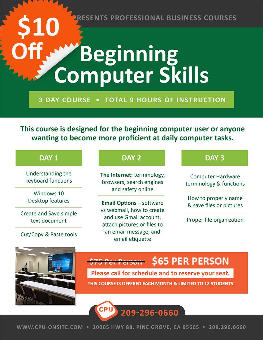 Beginning Computer Skills Black Friday Sale