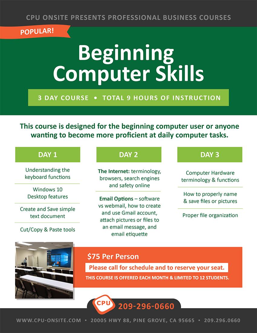 Beginning Computer Skills Class
