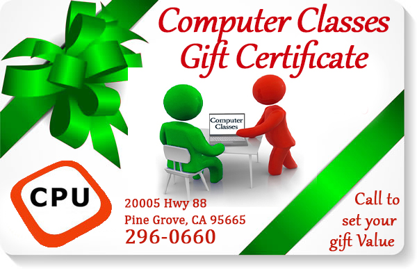 CPU Onsite - Gift Certificate for Computer Classes