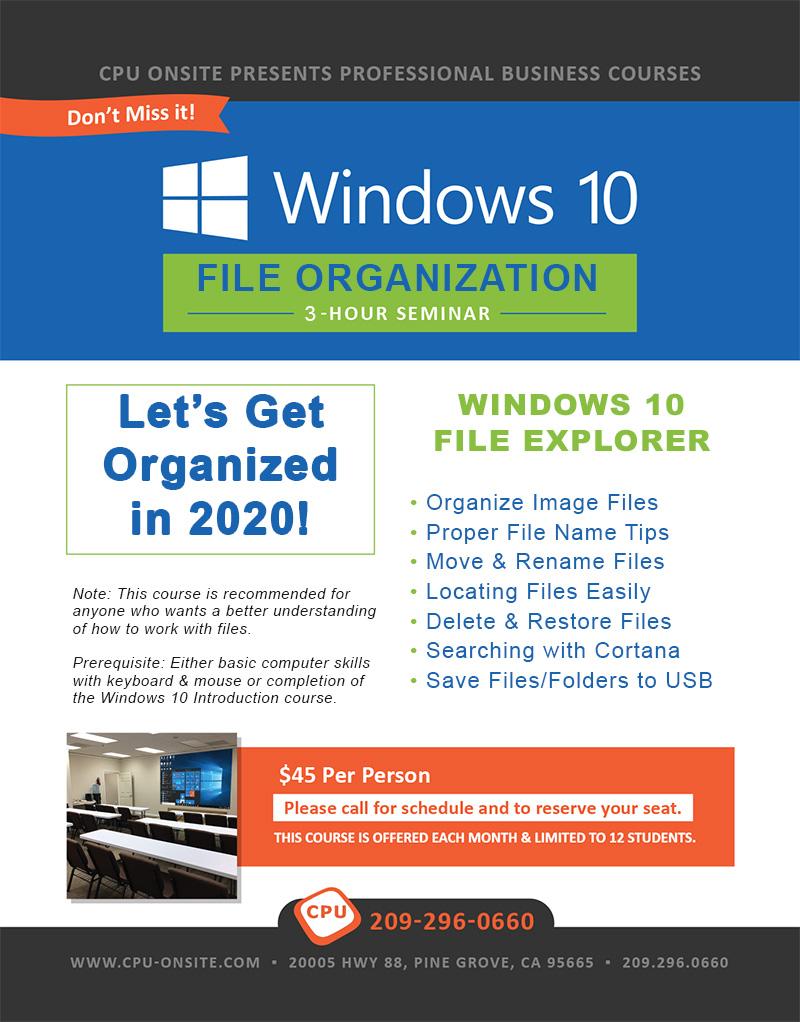 File Organization poster
